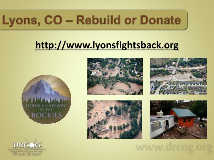 Lyons, CO – Rebuild
