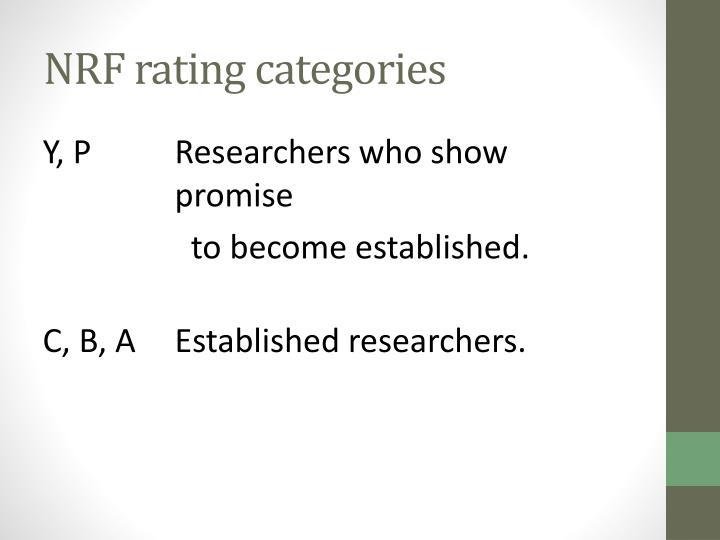 NRF rating categories