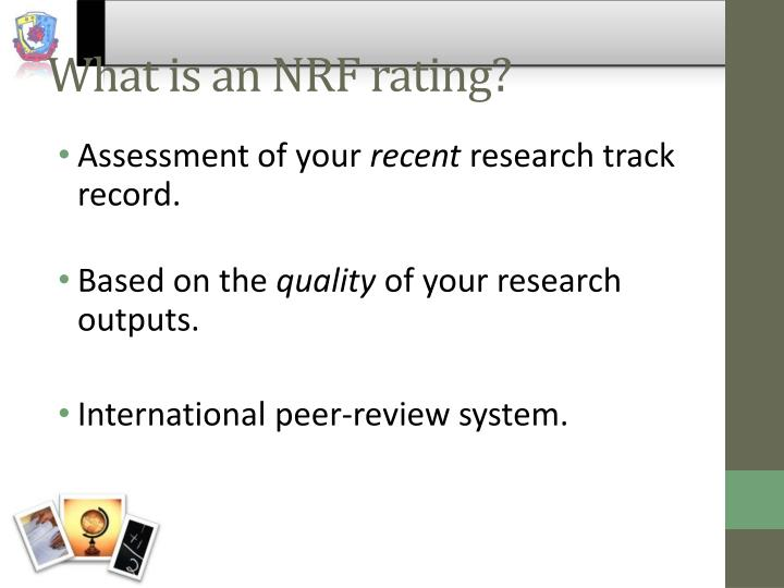What is an NRF rating?