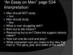 an essay on man page 524 interpretation