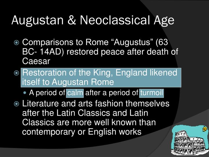 Augustan & Neoclassical Age