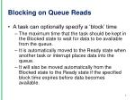 blocking on queue reads