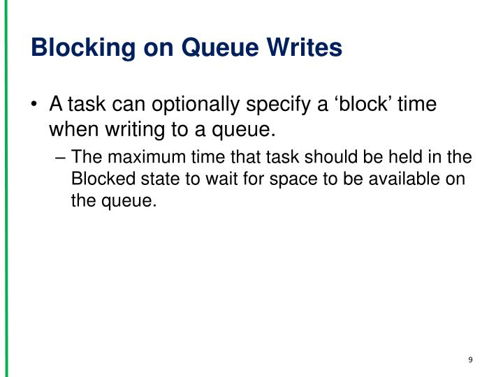 Blocking on Queue Writes