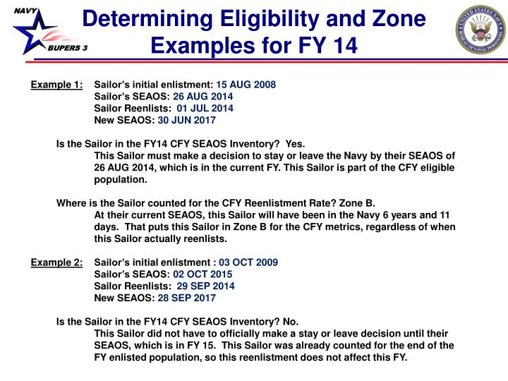 Determining Eligibility and Zone