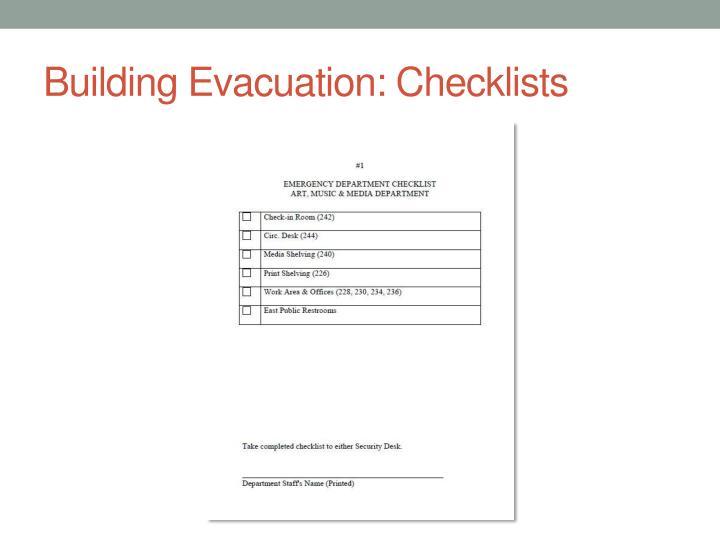 Building Evacuation