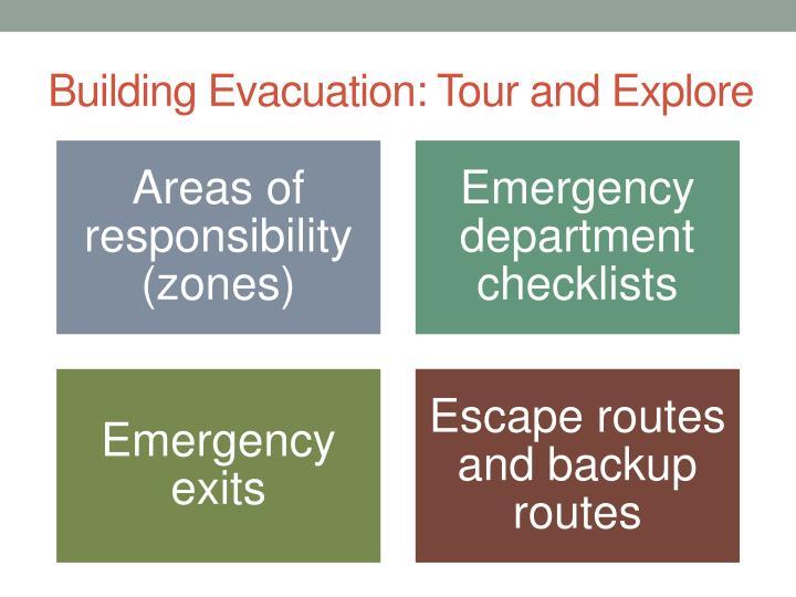 Building Evacuation: Tour and Explore
