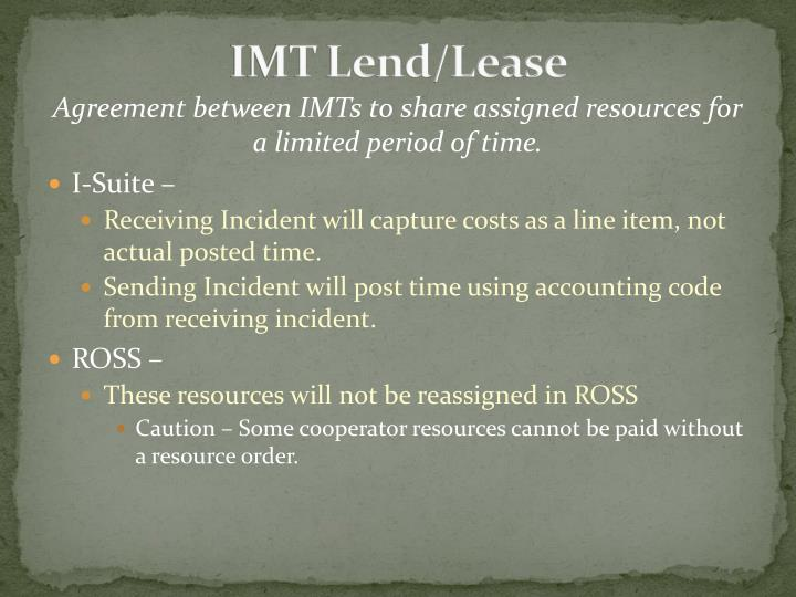 IMT Lend/Lease