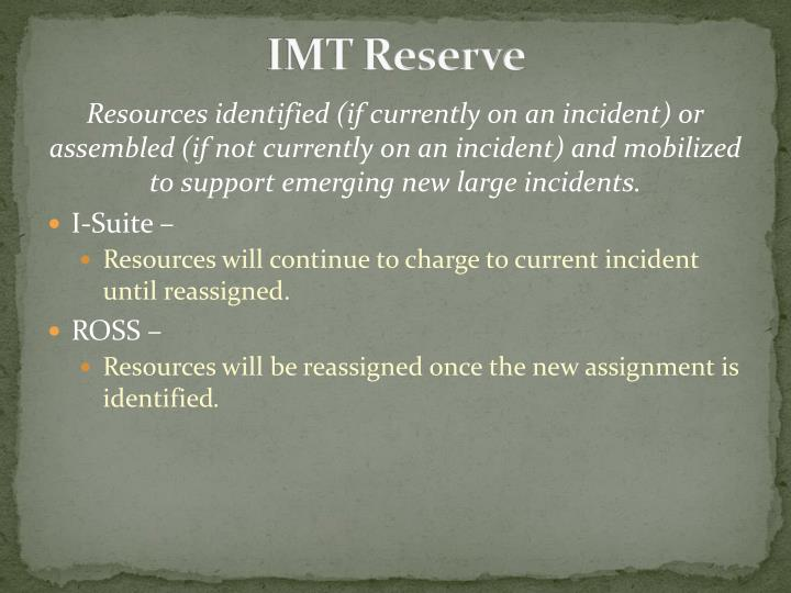 IMT Reserve