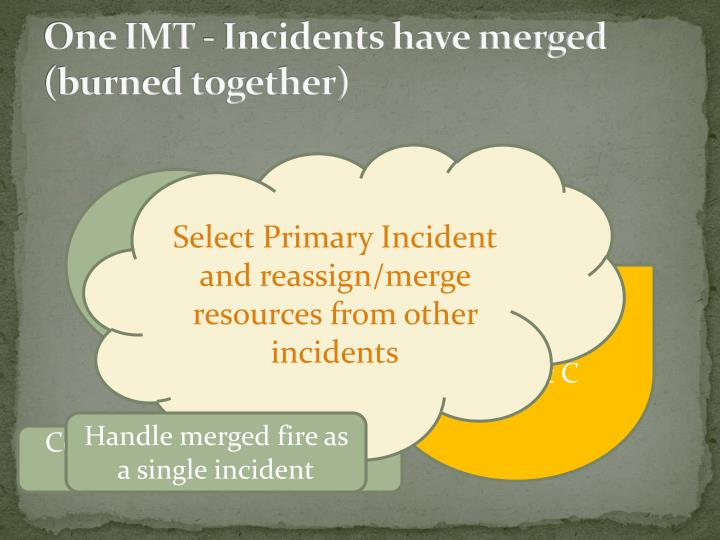 One IMT - Incidents have merged (burned together)
