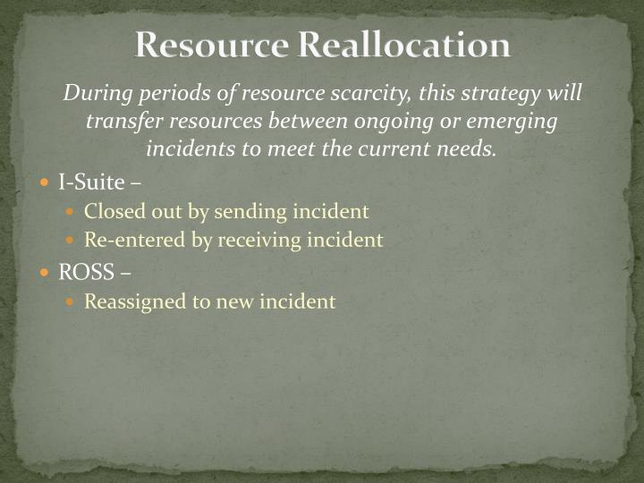 Resource Reallocation