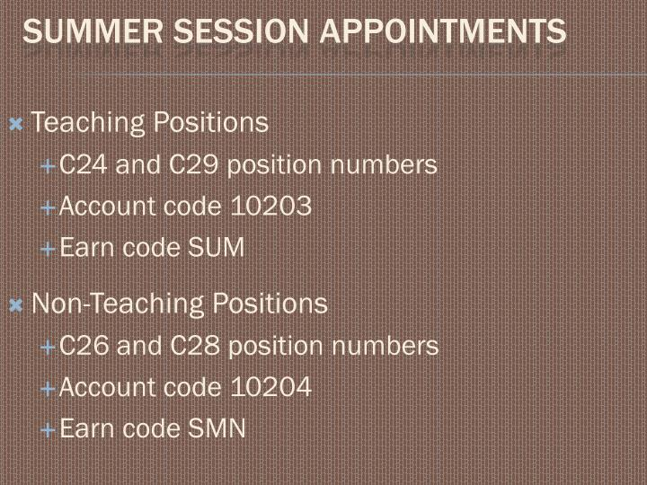 Teaching Positions