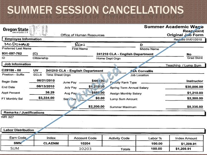 Summer Session Cancellations