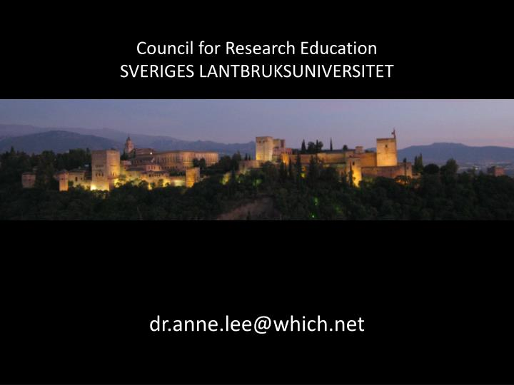Council for Research Education