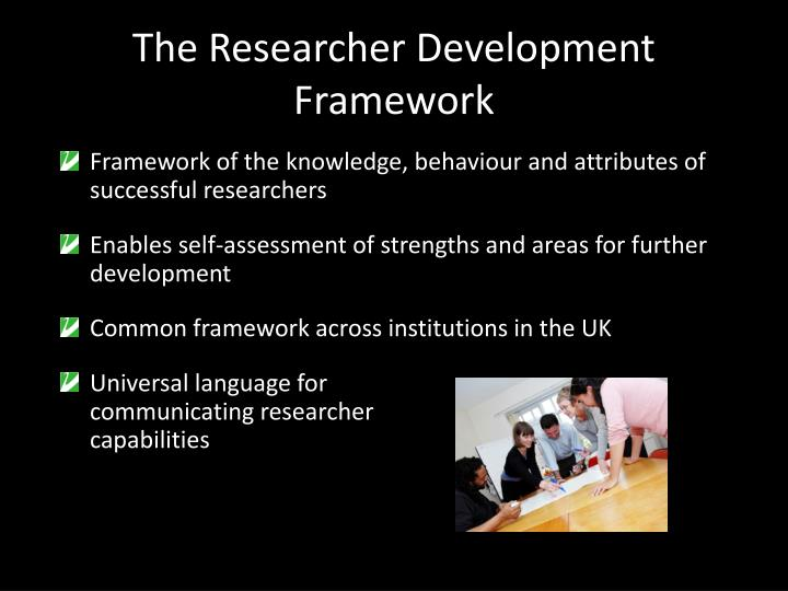 The Researcher Development Framework