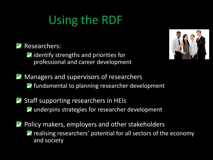 Using the RDF