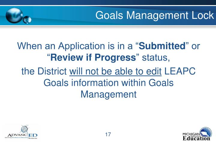 Goals Management Lock