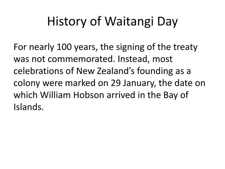 History of Waitangi Day
