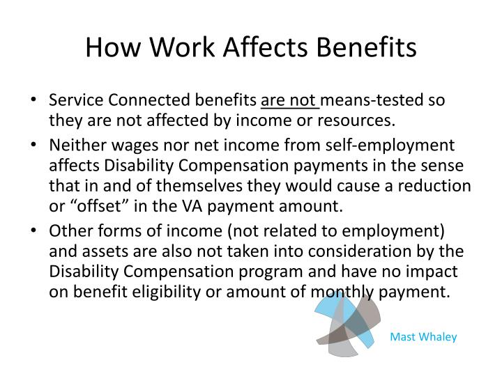 How Work Affects Benefits