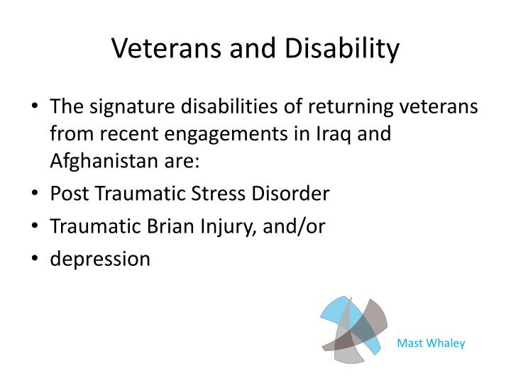 Veterans and Disability
