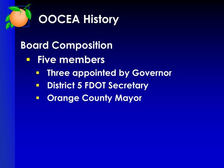 OOCEA History