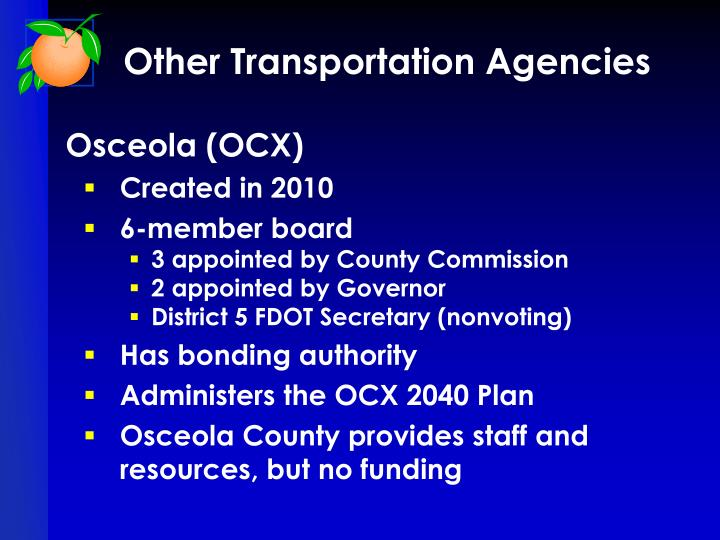Other Transportation Agencies