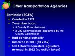 other transportation agencies3