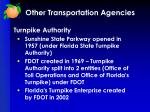 other transportation agencies4