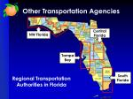 other transportation agencies7