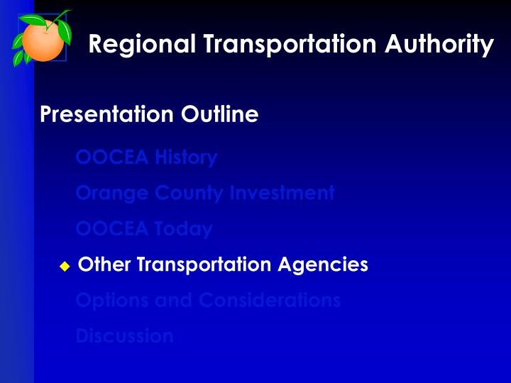 Regional Transportation Authority