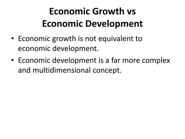 economic growth vs economic development pdf