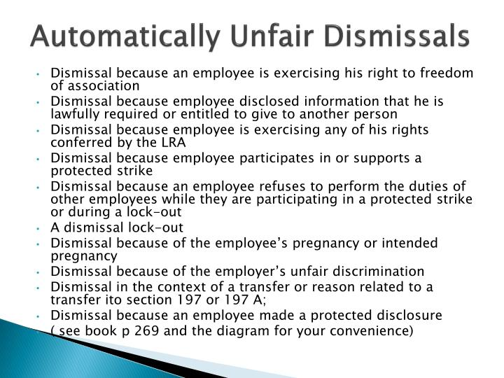 Automatically Unfair Dismissals