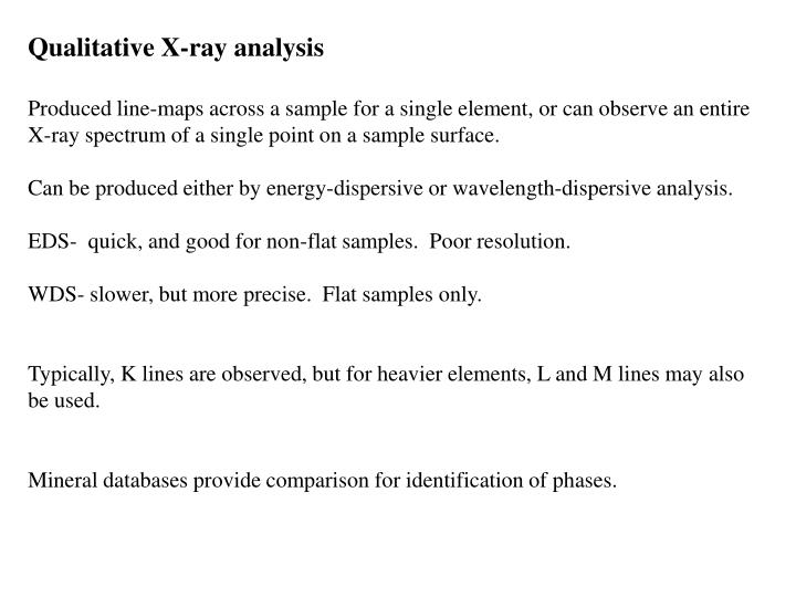 Qualitative X-ray analysis