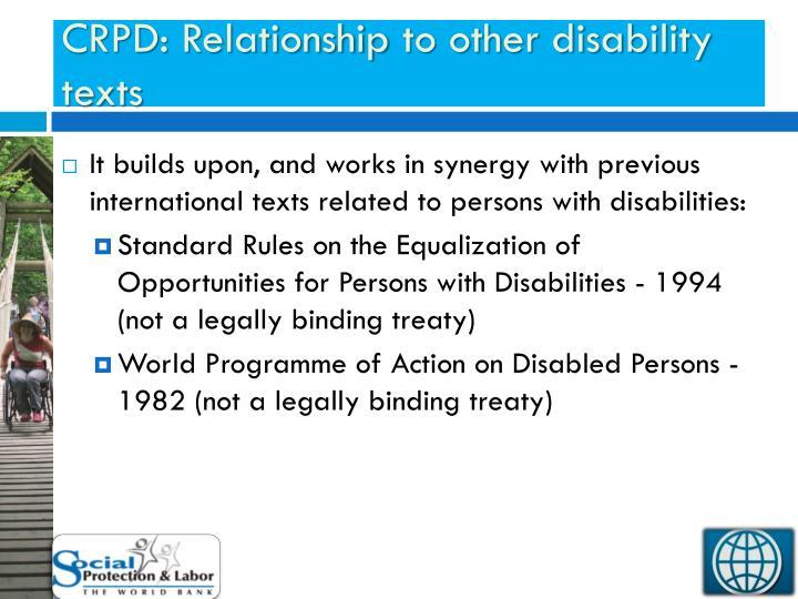 CRPD: Relationship