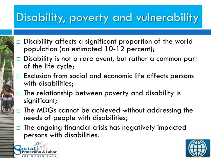 Disability, poverty and vulnerability