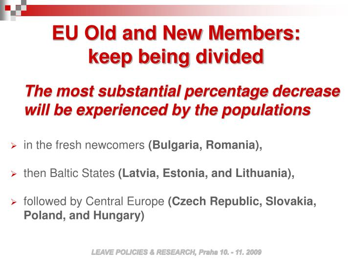 EU Old and New Members