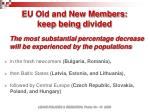 eu old and new members keep being d ivided