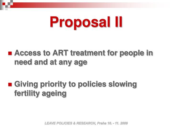Proposal II