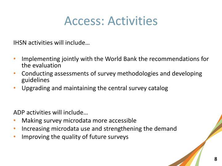 Access: Activities