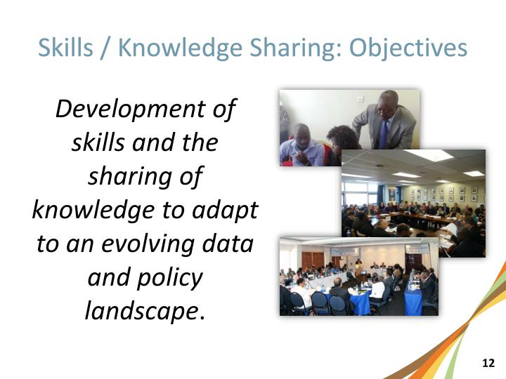 Skills / Knowledge Sharing: Objectives