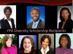 fpa diversity scholarship recipients
