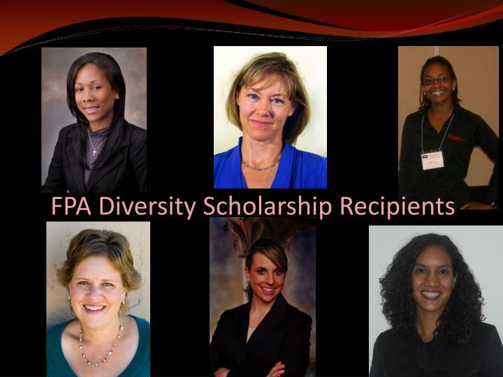 FPA Diversity Scholarship Recipients