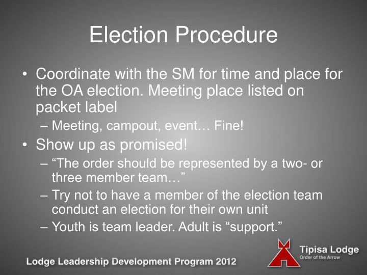 Election Procedure
