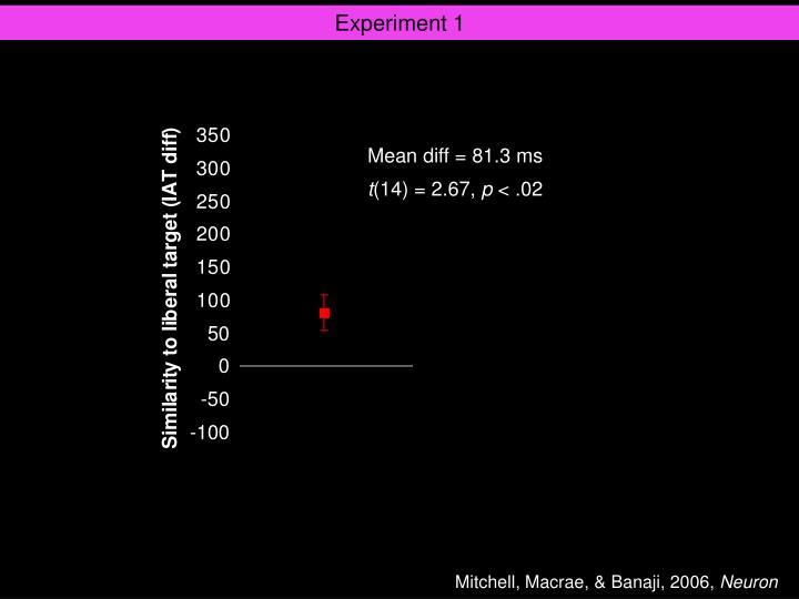 Experiment 1