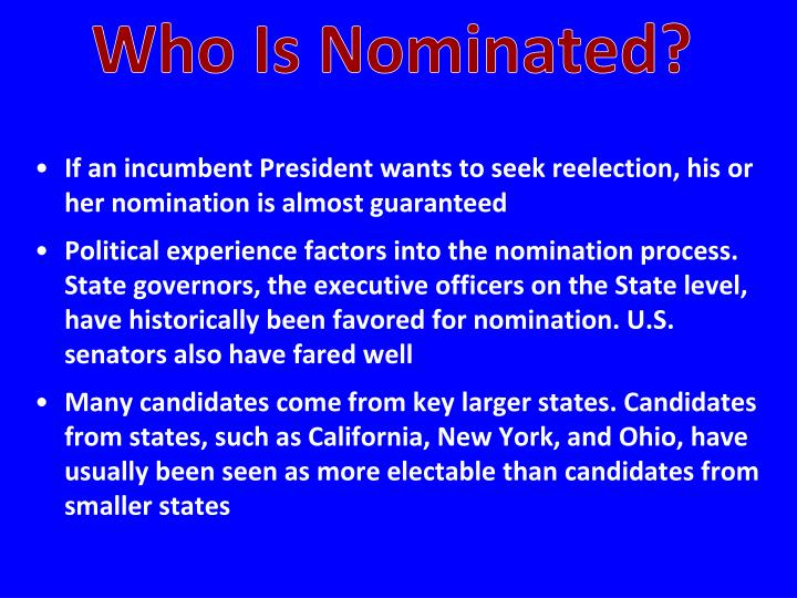 Who Is Nominated?