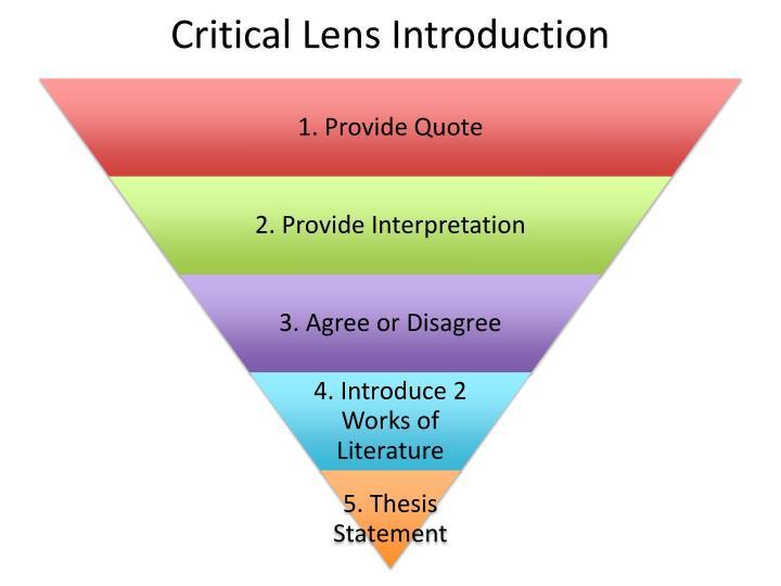 Critical Lens Introduction