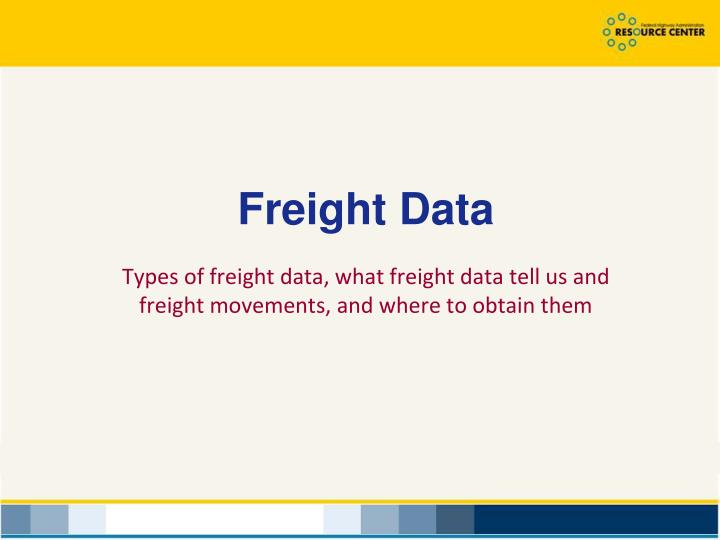 Freight Data