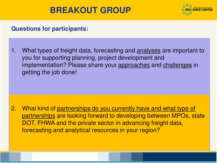 BREAKOUT GROUP