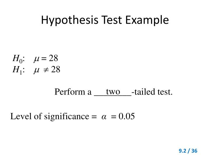 Hypothesis Test Example
