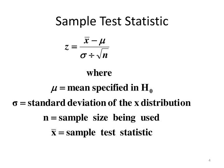 Sample Test Statistic