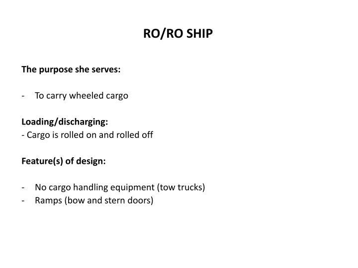 RO/RO SHIP